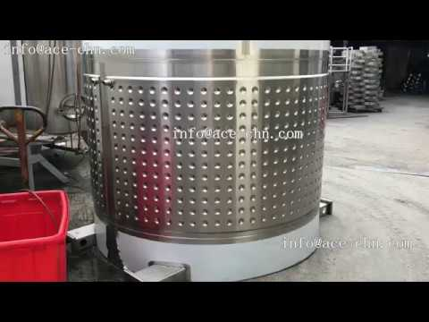 Stainless Steel Wine Fermentation Tank With Dimple Jacket