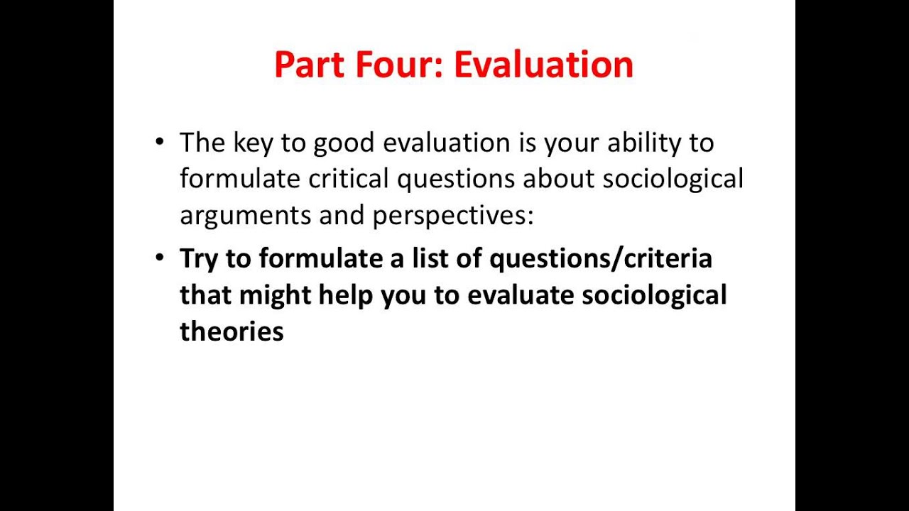 how to write sociology essays part