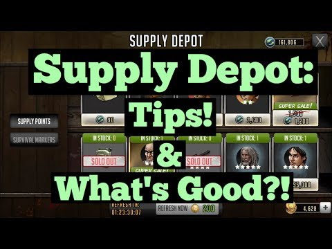 The Walking Dead: Road To Survival - Supply Depot: The Best Toons Breakdown + Tips!
