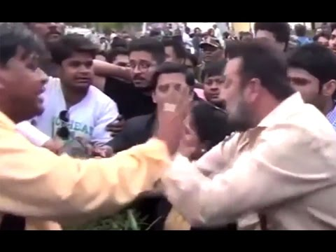 UNBELIEVABLE! Sanjay Dutt's Bodyguards Beat Up Media Persons In Agra