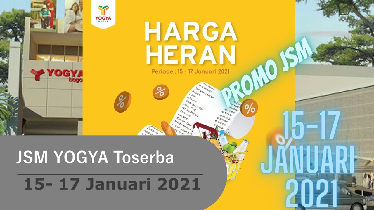 Promo Jsm Yogya Toserba 15 17 Januari 2021 Hanya 3 Hari Youtube