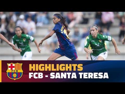 [HIGHLIGHTS] FUTBOL FEM (Liga): FC Barcelona - Santa Teresa (10-0)