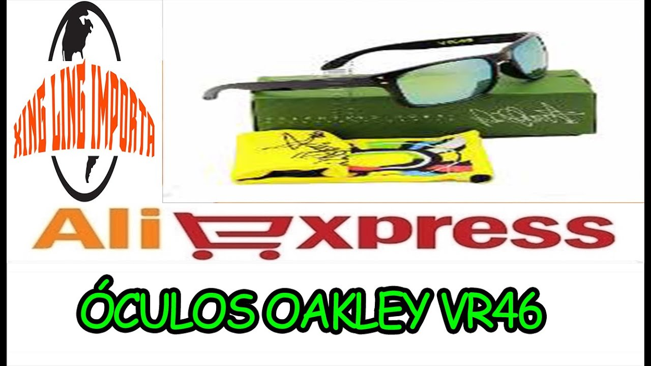 46bb1dd977519 043 UNBOXING- ALIEXPRESS- ÓCULOS OAKLEY HOLBROOK VR 46 - YouTube