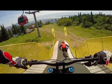 Claudio Caluori & Mark Wallace Shred Mont-Sainte-Anne: GoPro View | UCI MTB World Cup 2016