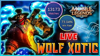 🔴WILL I HIT MYTHIC 1 RANK TONIGHT? 😥 MOBILE LEGENDS LIVE  | Wolf Xotic