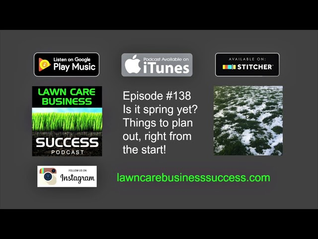 Episode #138 Is it spring yet? Things to plan out right from the start!