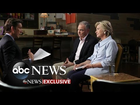 Hillary Clinton and Tim Kaine Sit Down With David Muir