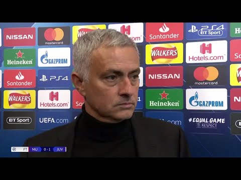 Jose Mourinho's post-match reaction to Man Utd 0-1 Juventus