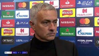 Jose Mourinho's post-match reaction to Man Utd 0-1 Juventus