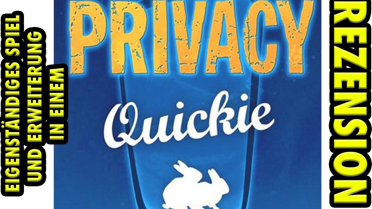 Privacy Quickie Rezension Auf Deutsch Eigenständiges Kartenspiel