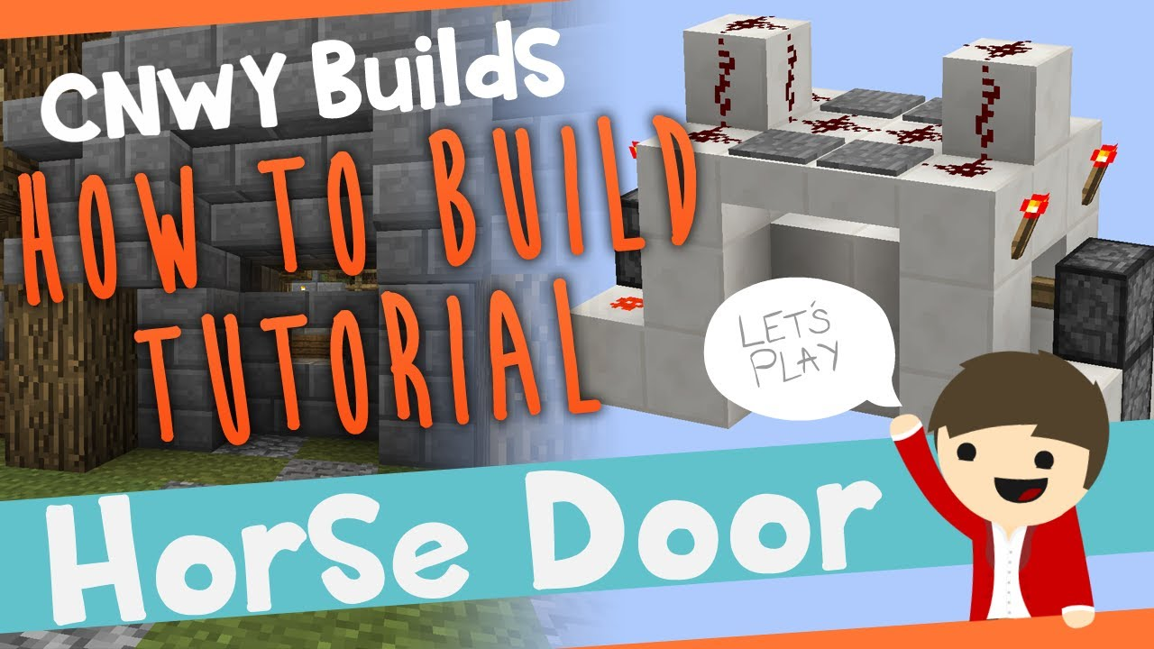 & Minecraft HORSE DOOR!!! - How To Build - YouTube