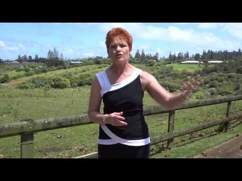 Norfolk Island Democracy? Pauline Hanson's visit 2/2