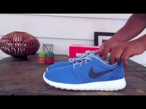 "Nike Roshe Run Unboxing & On Feet ""Photo Blue/Cool Grey"""