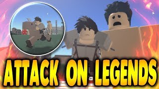 New FREE Attack on Titan Game! Better Than AOT Revenge?!? | Attack on Legend in Roblox | iBeMaine