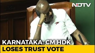 Karnataka Chief Minister HD Kumaraswamy Loses Trust Vote, Coalition Falls