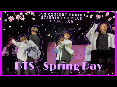 [HD] BTS SYDNEY WINGS TOUR 2017 - SPRING DAY + ENDING [Fancam]