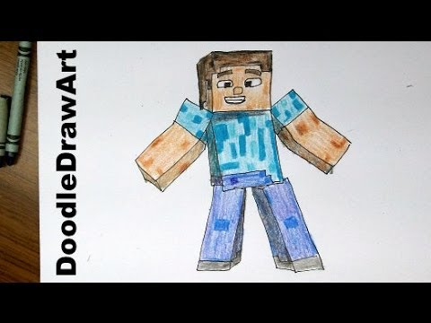 Drawing how to draw steve from minecraft hd easiest way tip trick
