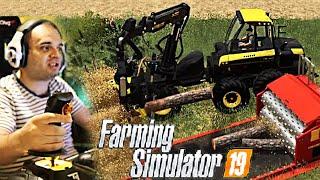 #74 - PROVO IL THRUSTMASTER T16000M PER TAGLIARE LEGNA -  FARMING SIMULATOR 19 ITA RUSTIC ACRES