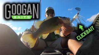 Catching BASS NORTHERN PIKE Using GOOGAN BAITS Back Lake Fishing Tips