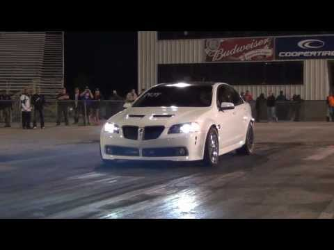 Procharged Heads and Cam Pontiac G8 GT 1/4 Racing at GMP 10.55@134.3 1.60
