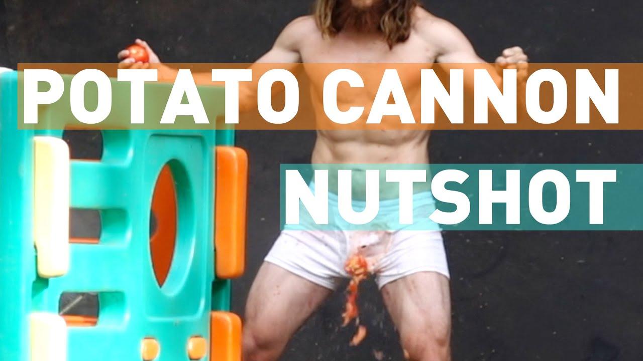 Potato Cannon NUTSHOT!