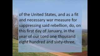 Emancipation Proclamation -- Hear and Read the Full Text -- Abraham Lincoln