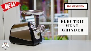 😍  HOMGEEK  ❤️  Electric Meat Grinder - Review   ✅