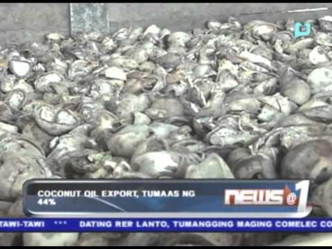 Coconut oil export, tumaas ng 44%