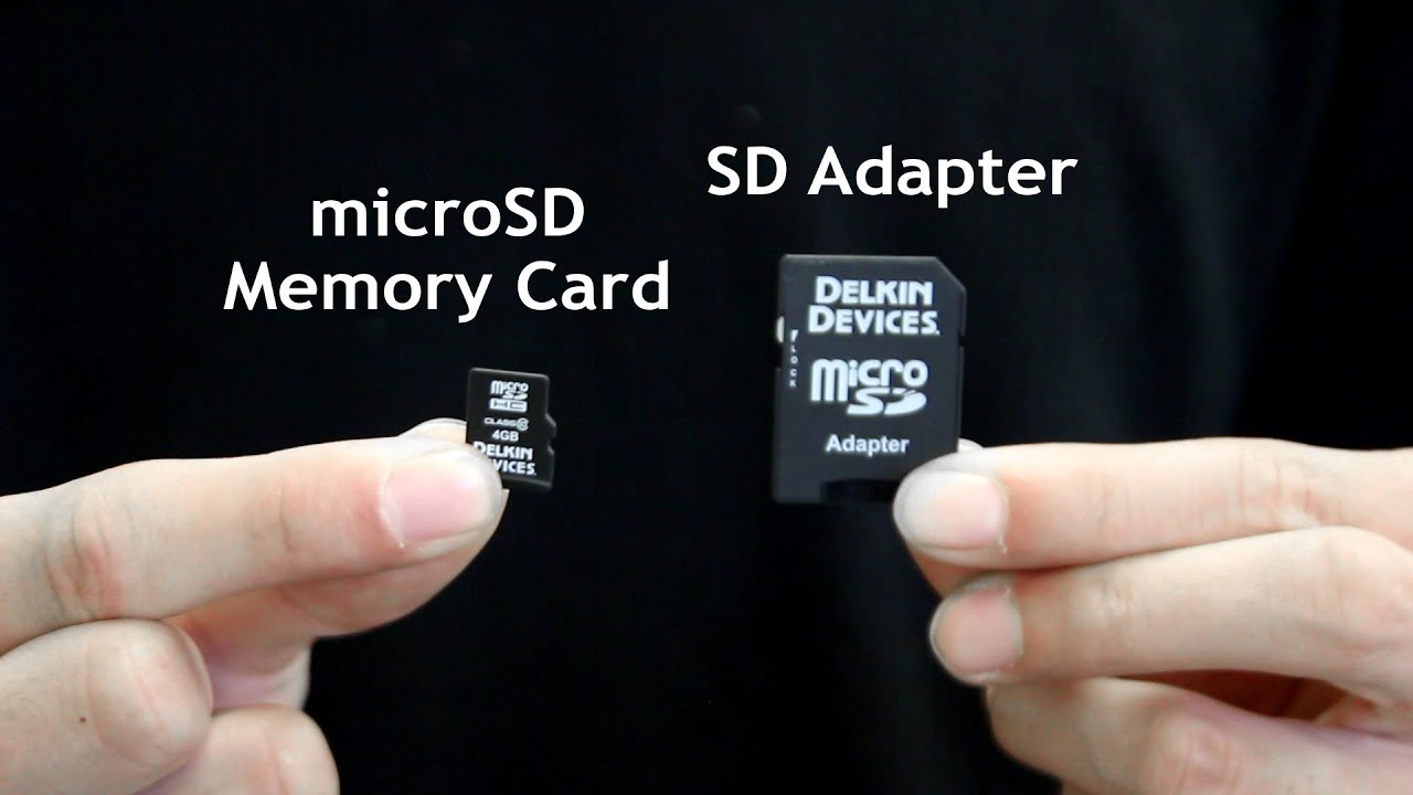 How To Insert Amp Remove A MicroSD Card From The SD Adapter