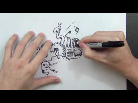 Drawing with Peter Draws: Weird Monster Faces