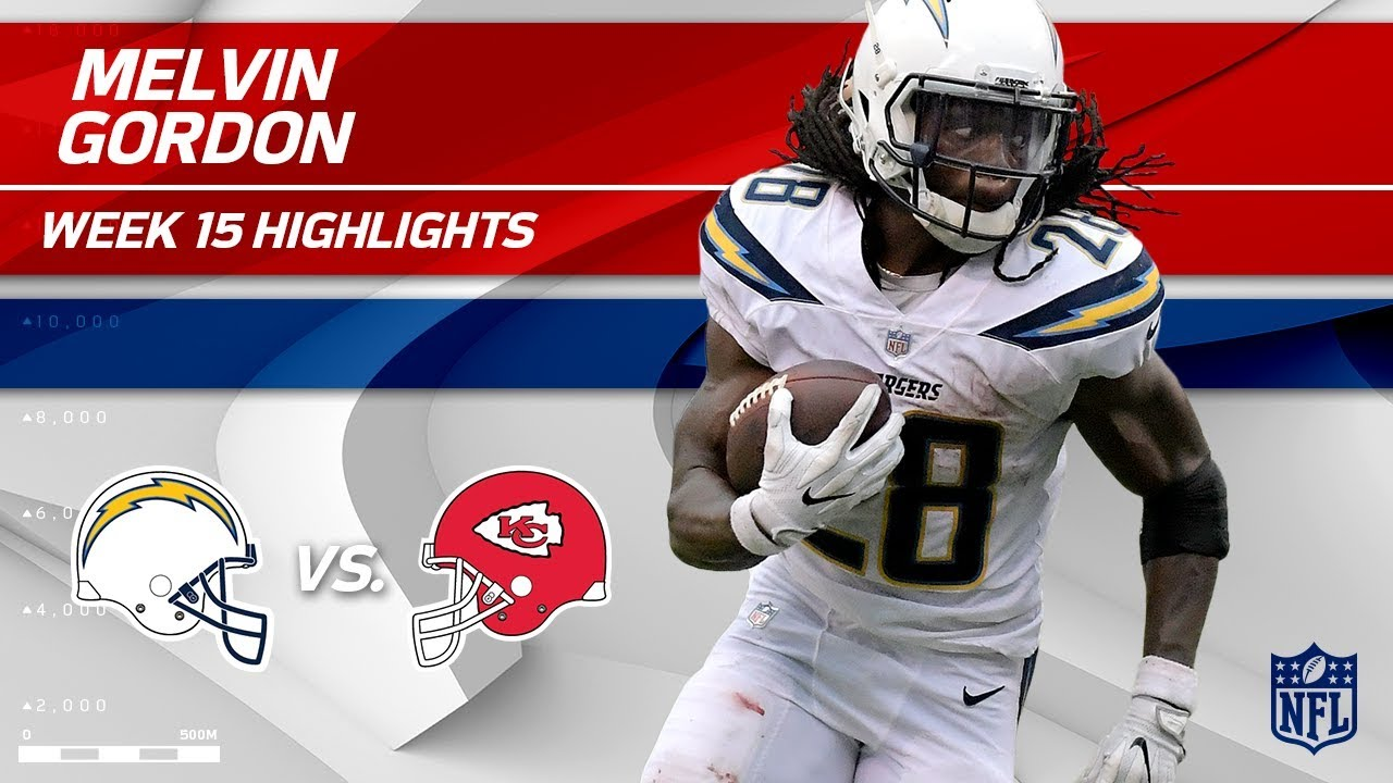 Melvin Gordon S 169 Total Yards Amp 1 Td Vs Kc Chargers