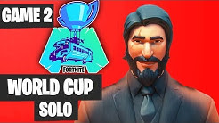 Fortnite World Cup SOLO Game 2 Highlights [Fortnite World Cup Highlights]