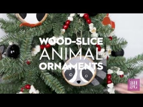 Animal Wood Slice Ornaments | Made By Me Crafts | Better Homes & Gardens