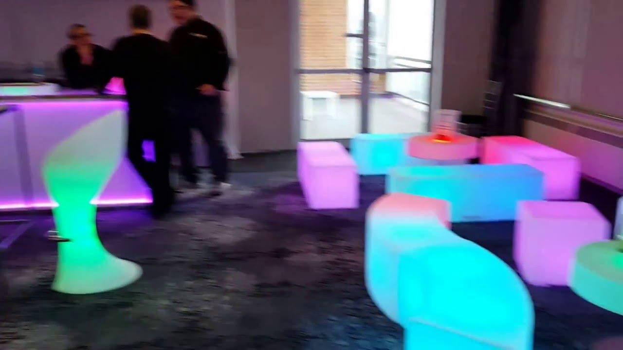 Glowmi.com - LED glow furniture @ Fountain Blu, Toronto, Canada.