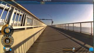 Going Fast Cycling over the Hornibrook Bridge to Recliffe | Bike Ride