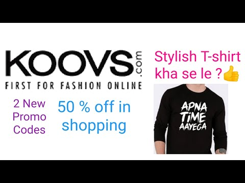 Koovs shopping app new promo codes and from where stylish T-shirt to buy