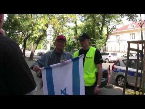 Ambasada Izraela: Polska flaga no problem, not this one (04.09.12)