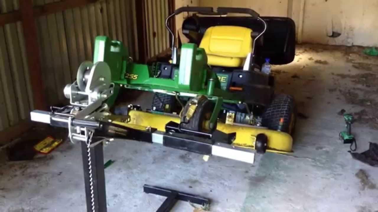John Deere Z255 Deck Belt Repair  YouTube