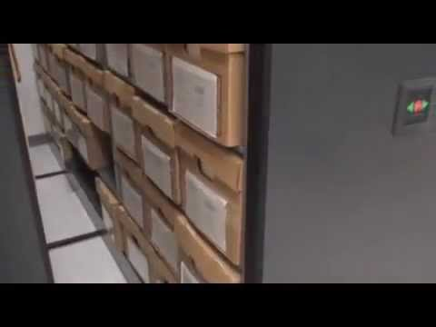 Space Saving High Density Mobile Box Storage Shelving Storing Record File Boxes
