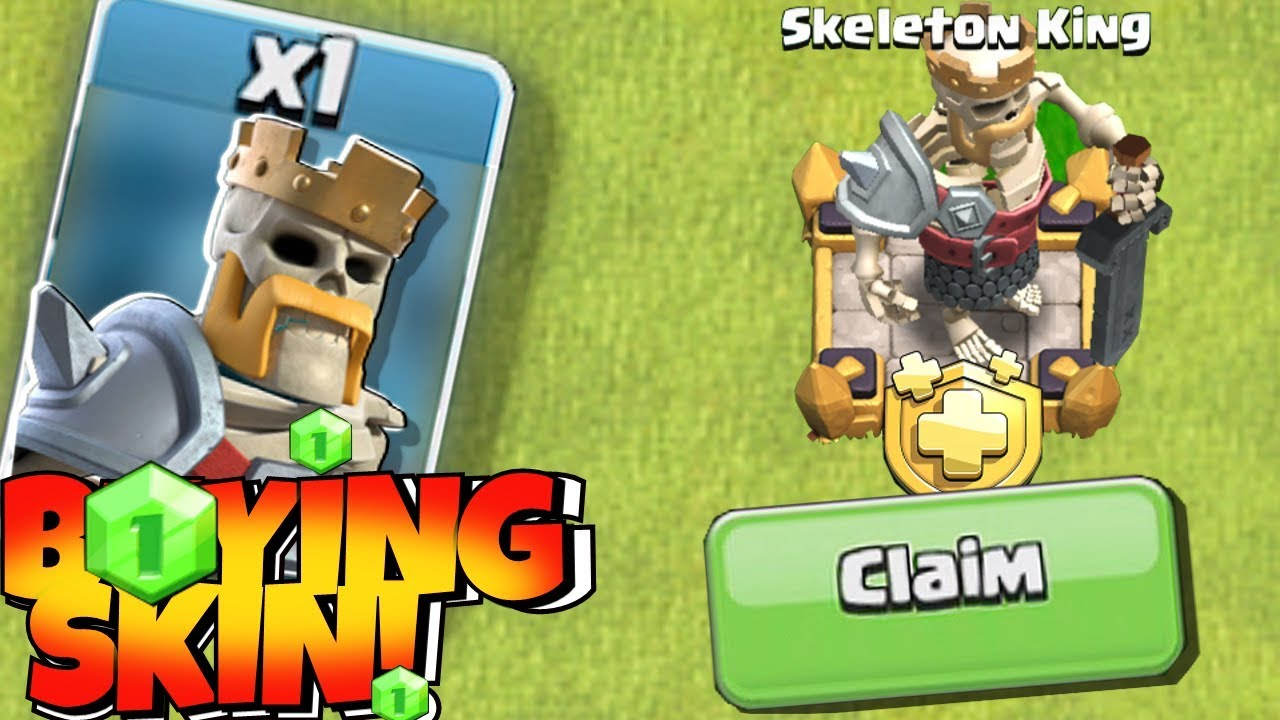 "BUYING NEW ""SKELETON KING"" (Clash Of Clans) NEW GHOST TROOP!?!"