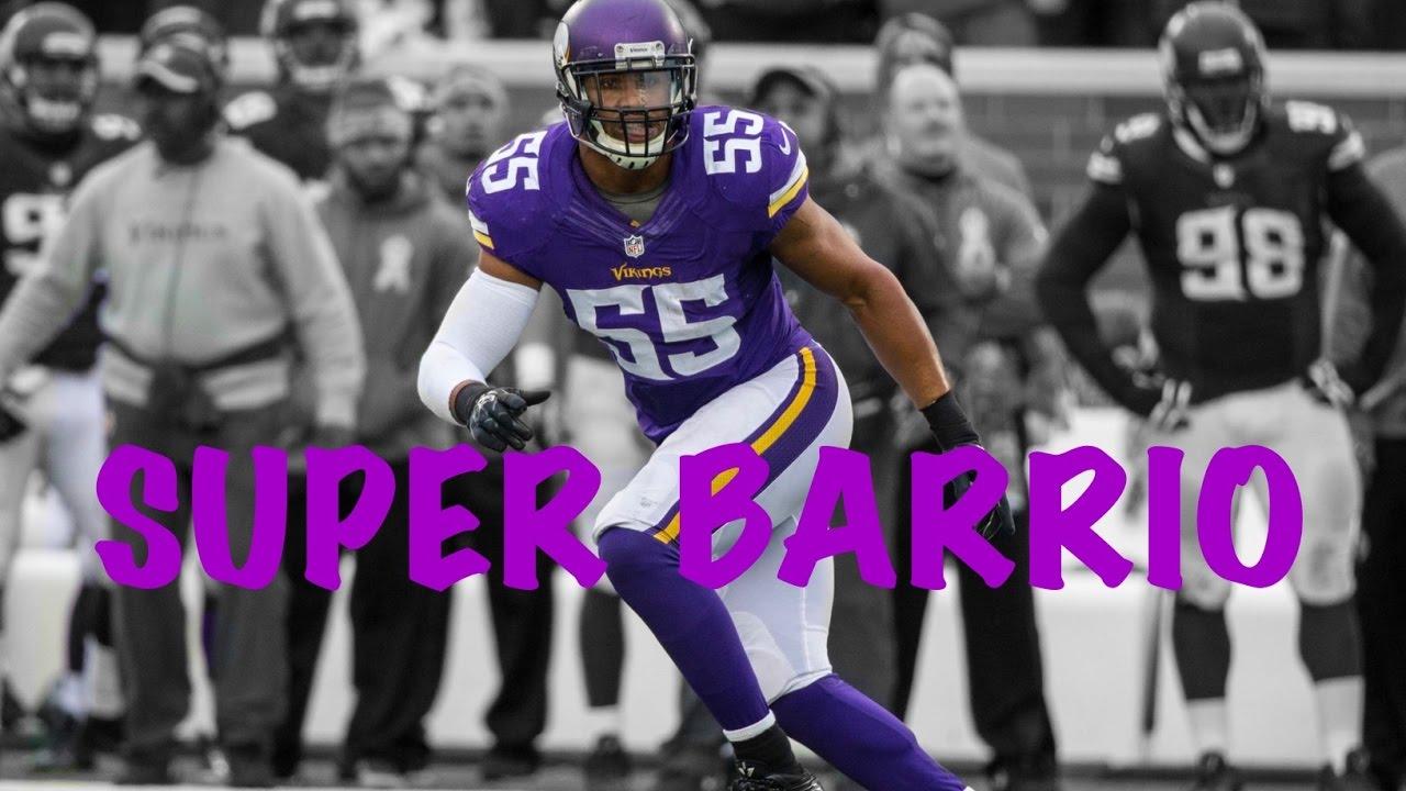 "Anthony Barr ""Super Barrio"" 2014 16 Minnesota Vikings"