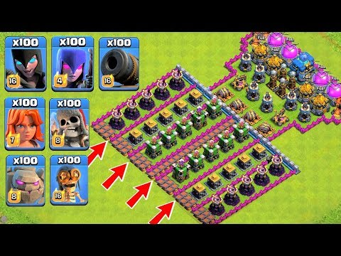 Who Can Survive This Difficult Trap on COC? Trap VS Troops #35