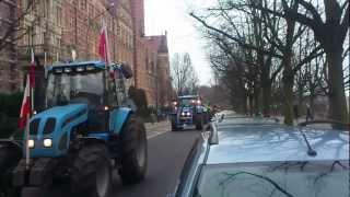 protest rolników w szczecinie 15.02.2013