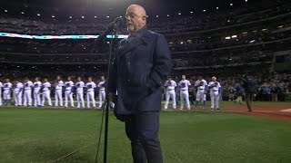 Billy Joel performs the national anthem