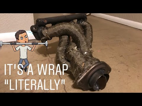 W HM/&FC Titanium Exhaust Wrap Roll 50 Ft * 2 In T *0.06 In L