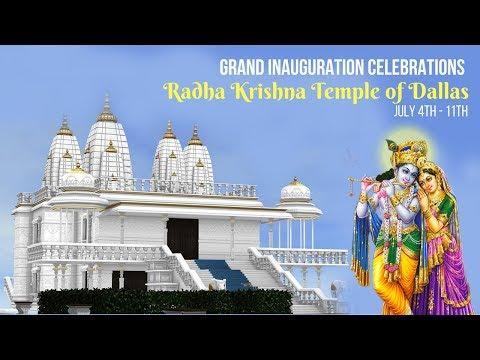 Radha Krishna Temple of Dallas Inauguration Celebrations - Watch Live Telecast