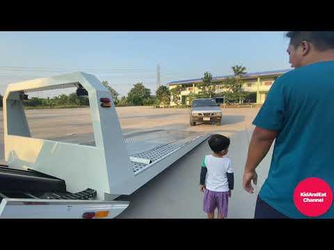 รถยก ทดสอบประสิทธิภาพและความปลอดภัย [Car slide on with baby AKA]