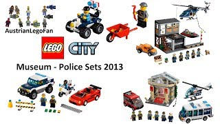 All Lego City Museum Break-In / Police Sets 2013 - Lego Speed Build Review