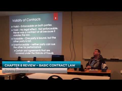 Prelicensing Chapter8 Review   Basic Contract Law