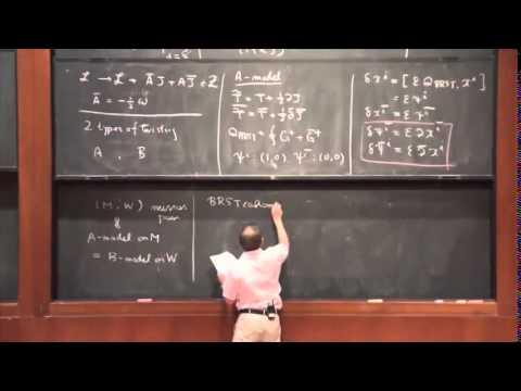 Hirosi Ooguri - Topological String Theory I
